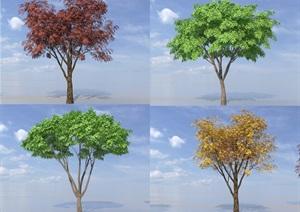 SU(草图大师)代理树、各种树代理模型