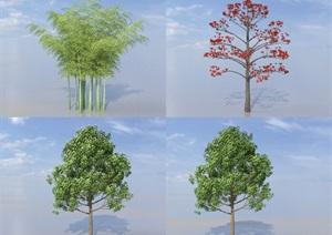 SU(草图大师)植物代理、毛竹代理、三角枫