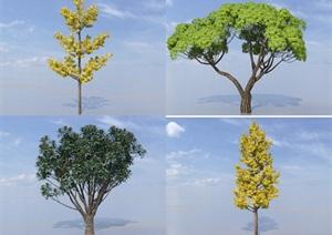 SU(草图大师)植物代理、银杏树、杨梅树