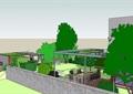 现代住宅庭院景观设计su模型