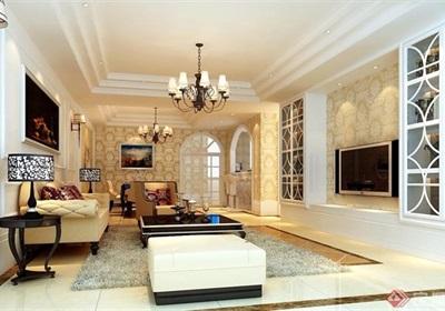 欧式详细的住宅室内客厅装饰空间设计3d模型及效果图
