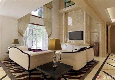 详细的跃层住宅室内客厅装饰设计3d模型及效果图