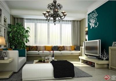 详细的完整现代住宅室内客厅装饰设计3d模型及效果图