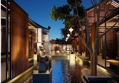 中式风格酒店建筑设计3d模型及效果图