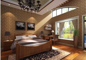 住宅详细的完整卧室装饰设计3d模型及效果图