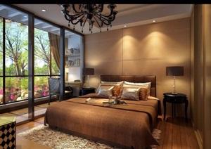 详细的完整欧式卧室设计3d模型及效果图
