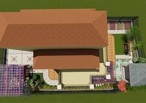 欧式庭院设计-悠闲的小院