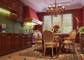 欧式详细的完整餐厅空间装饰设计3d模型及效果图