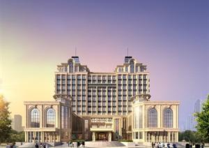 欧式会所类酒店SU(草图大师)模型