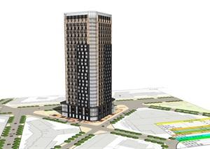 现代+新古典混搭公寓SU(草图大师)模型
