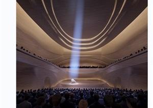 某详细的音乐厅剧场设计3d模型及效果图