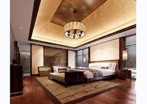 某现代风格详细的酒店卧室设计3d模型及效果图
