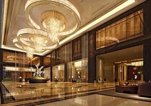 某详细的完整售楼部装饰设计3d模型及效果图