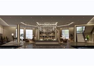 某现代详细的独特整体售楼部完整设计3d模型及效果图