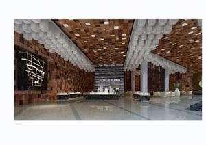 现代风格详细的某售楼部空间装饰设计3d模型及效果图