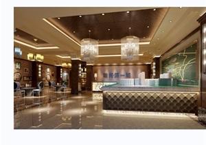 某详细的整体完整售楼部室内空间装饰设计3d模型及效果图