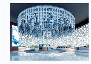 某现代详细的完整室内卖场空间3d模型及效果图