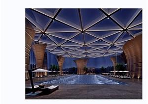某游泳馆详细的完整工装室内装饰3d模型及效果图