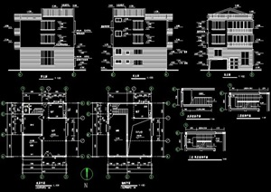 四层别墅住宅建筑设计施工图纸