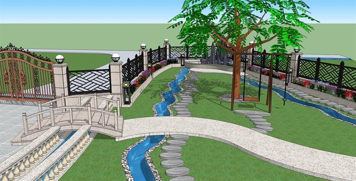 花园-别墅娱乐景观设计[原创]别墅绿化间图片