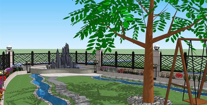 别墅-花园v别墅景观设计[原创]街走马别墅慈城图片