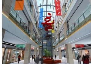 某详细的商业空间工装室内设计3d模型及效果图