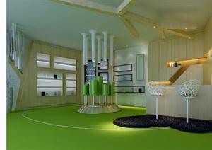 某详细工装接待室公共空间设计3d模型及效果图