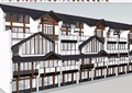 中式農村沿街住房建筑SU模型