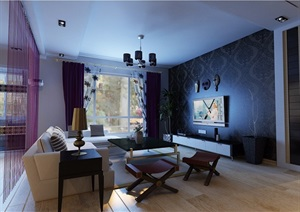 详细的室内客餐厅装饰室内3d模?#22270;?#25928;果图