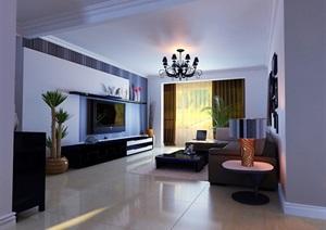 某住宅详细的室内客厅装饰设计3d模?#22270;?#25928;果图