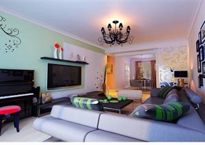 住宅详细的整体室内客厅装饰设计3d模?#22270;?#25928;果图