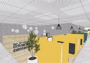 现代办公室完整详细的装饰设计3d模型及效果图