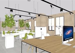 某整体详细的完整办公室空间装饰SU(草图大师)模型