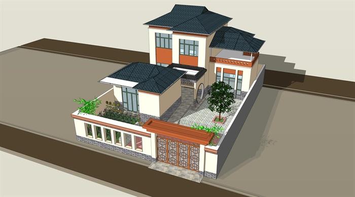 新中式合院别墅(1)