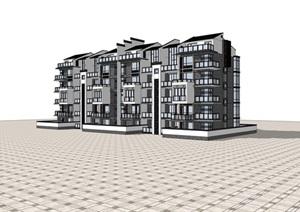 中式洋房住宅SU(草图大师)模型