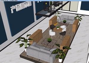 LOFT办公空间完整详细设计SU(草图大师)模型