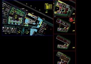 现代简约风别墅住宅区规划小区销售中心活动会所模型cad超清效果图