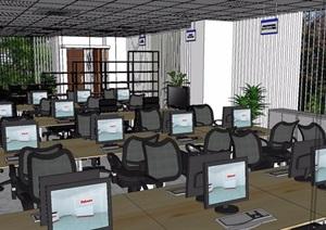 现代简约办公室装饰设计SU(草图大师)模型