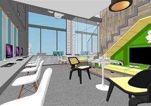 现代简约北欧风格豪华住宅别墅艺术家工作室室内设计跃层设计