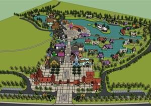 生态观光园童话主题游览小镇游乐园