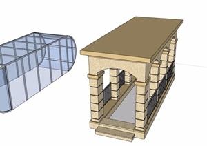 地下入口多个设计SU(草图大师)模型