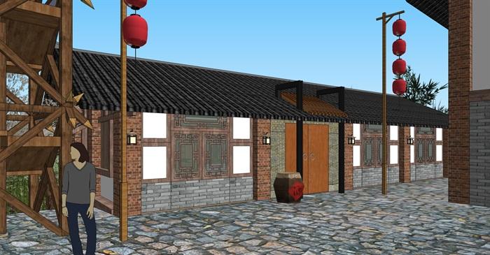 老厂区旧厂房民宿改造滨水商铺精品客栈建筑景观方案设计(8)