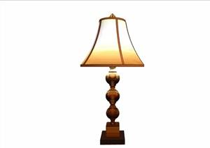 欧式风格详细的室内台灯素材设计SU(草图大师)模型