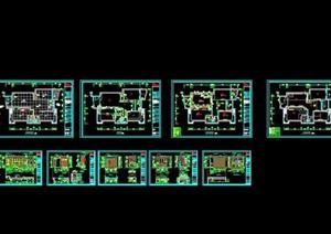中式住宅室内设计装修SU(草图大师)模型工装施工图cad效果图