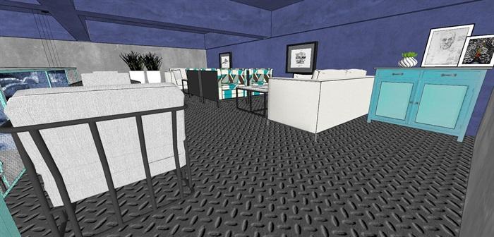 清新工业风LOFT酒吧咖啡厅室内设计(2)