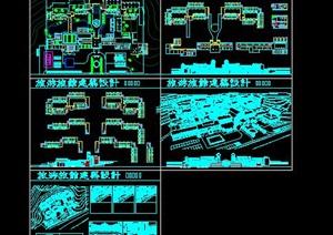 现代中式山地高差度假休闲温泉酒店群规划设计SU(草图大师)模型cad