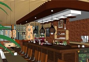 欧式风格红砖咖啡厅奶茶店