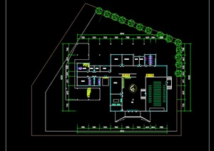 小型校园图书馆社区图书中心设计SU(草图大师)模型cad排版大图展板