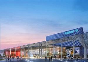 现代大型大跨度科技展览馆展示中心