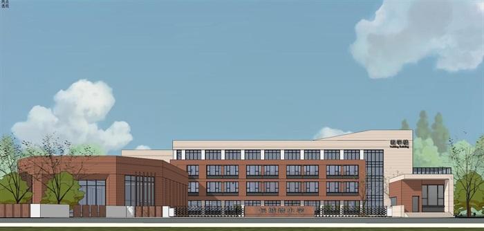 现代简约式风格小型小学学校校园规划设计(7)